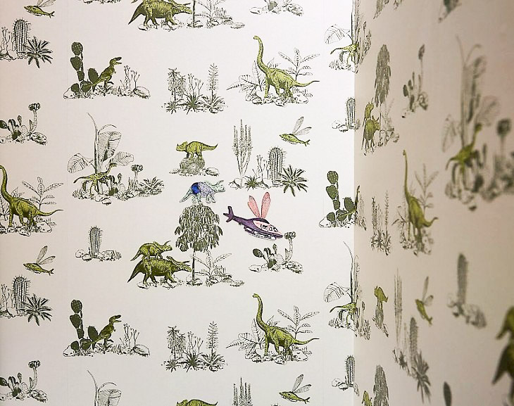 Wallpaper childrens bedroom dinosaur