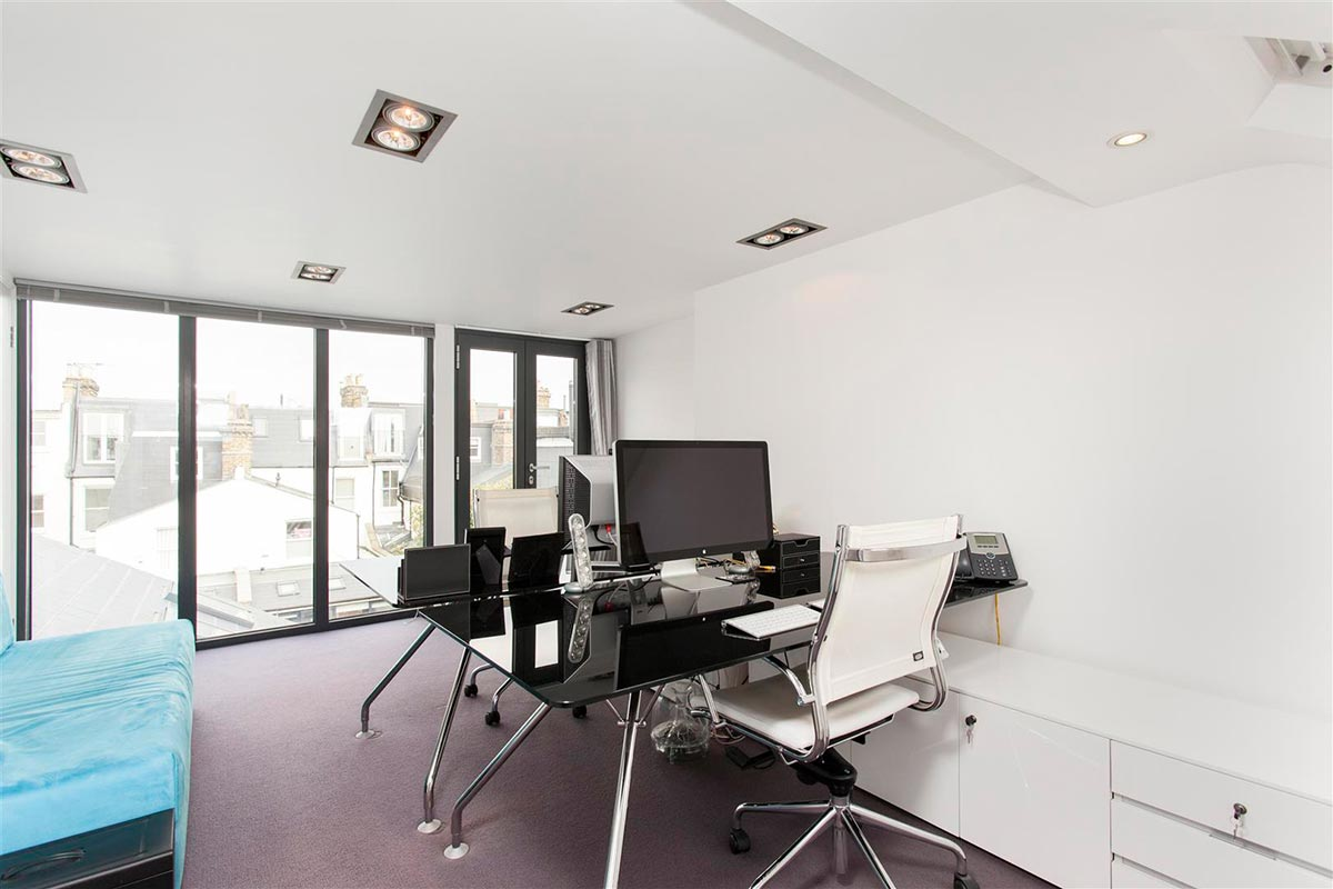 Ensoul Clapham Architect Loft Conversion Glass Wall Home Office