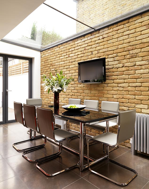Ensoul Clapham Side Return Architect Exposed Brick Dining Kitchen Contemporary Radiators