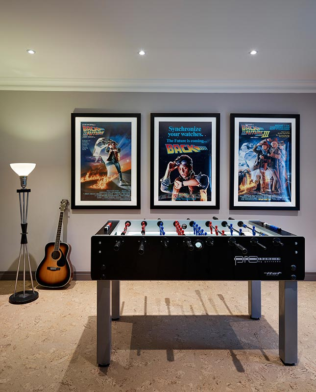 Ensoul Highgate London Games Room Football Table Movie Posters