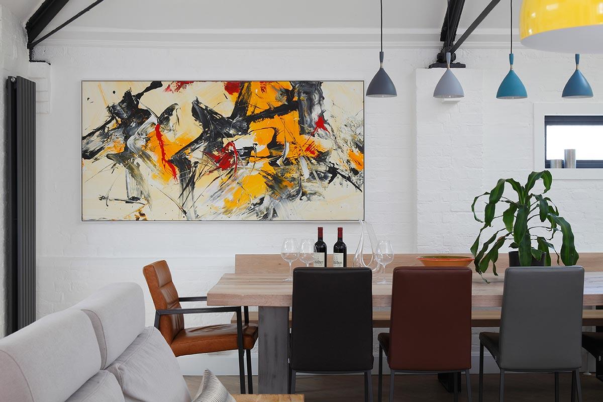 Ensoul PK LO Flat Apartment Dining Room Artwork Dokka Pendant lights