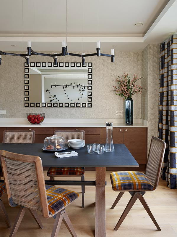 Ensoul Putney Dining Room Dining Table Mirror Wallpaper