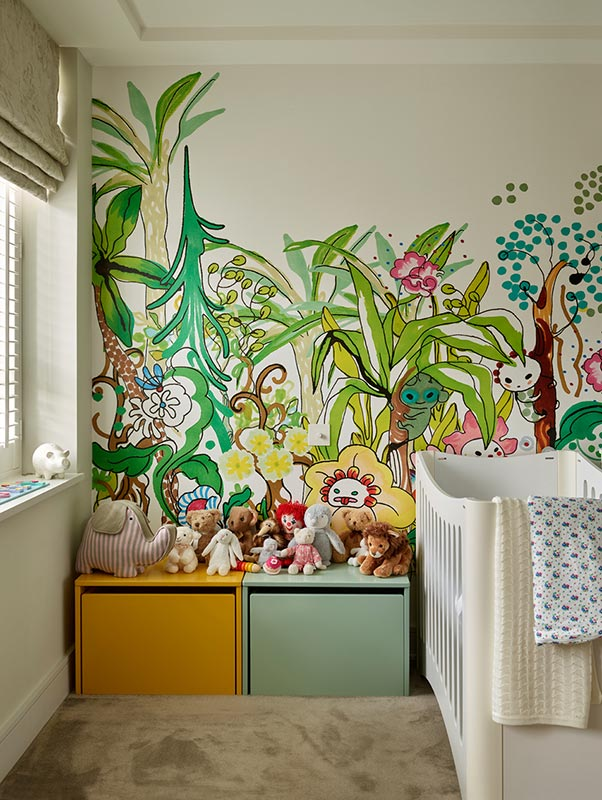 Ensoul Putney Nursery Kids Bedroom Mural Wallpaper Cot