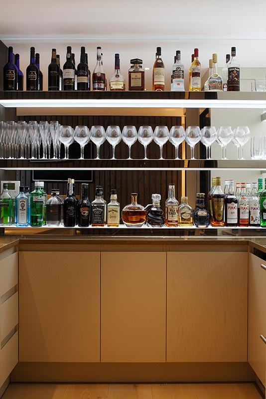 Ensoul Sussex Bar Shelves Bespoke Bar Cabinetry Bottle display