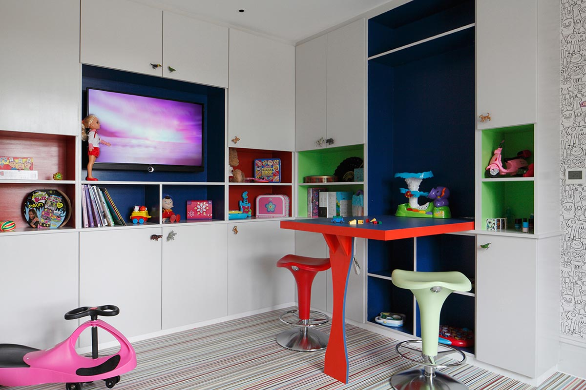 Ensoul Sussex Kids Playroom Built in Storage Cabinetry