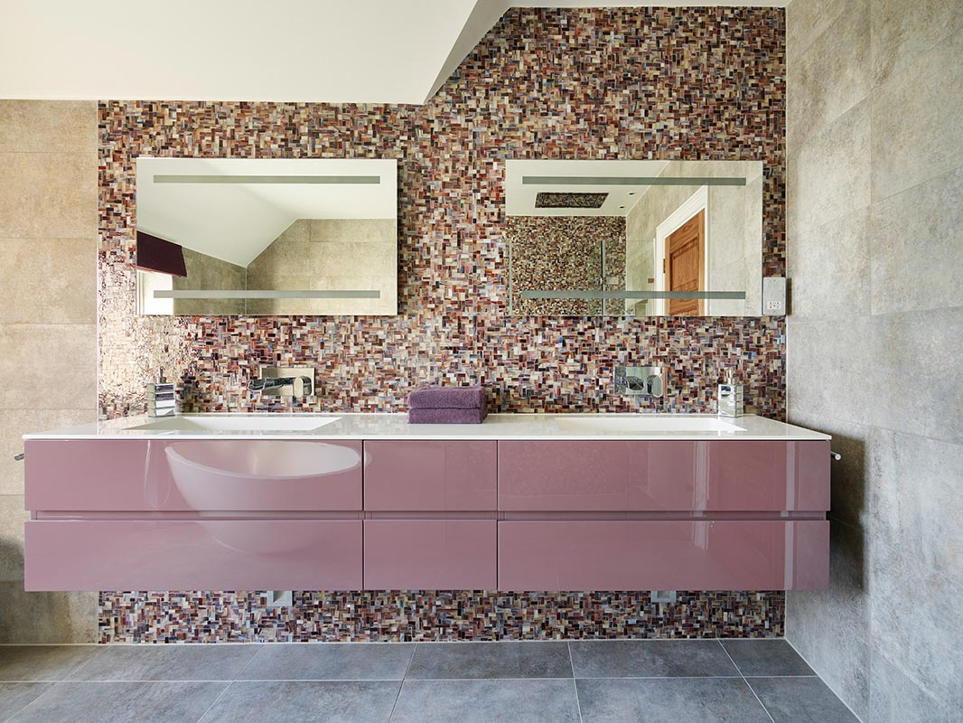 Ensoul Sussex Master Ensuite Purple Concrete Mosaic Tile