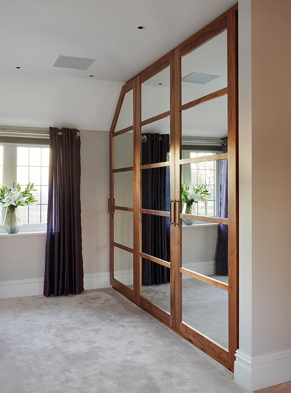 Ensoul Sussex Walnut and Mirror Wardrobes