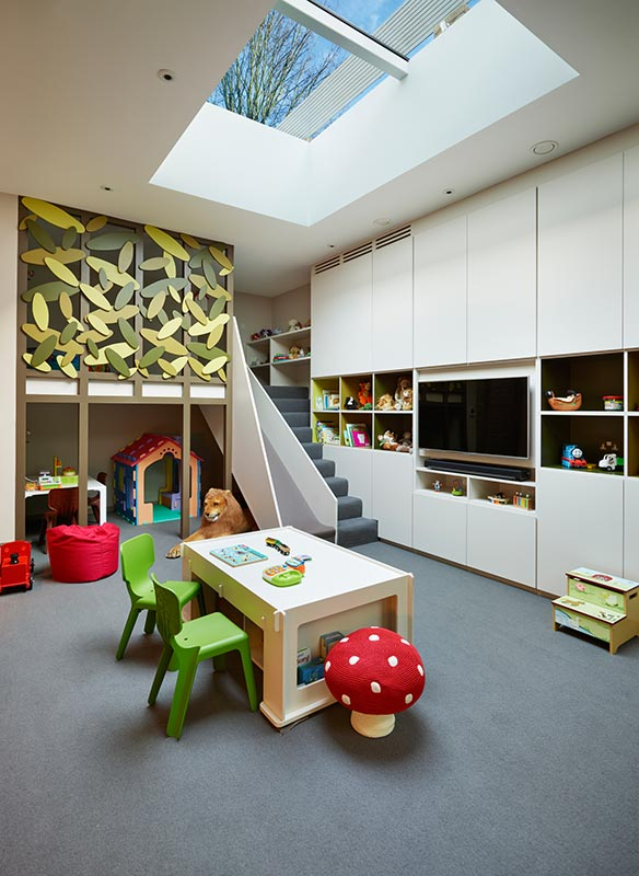 Ensoul Wandsworth Common Playroom Kids Spaces Built in Storage Treehouse