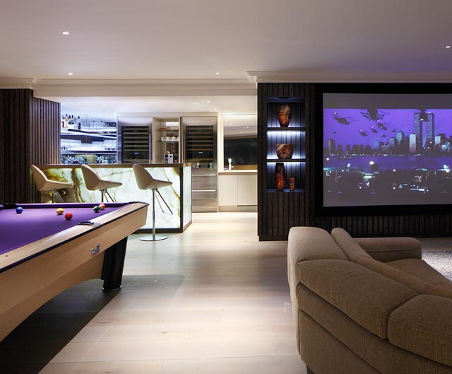 Luxury home cinema and games room