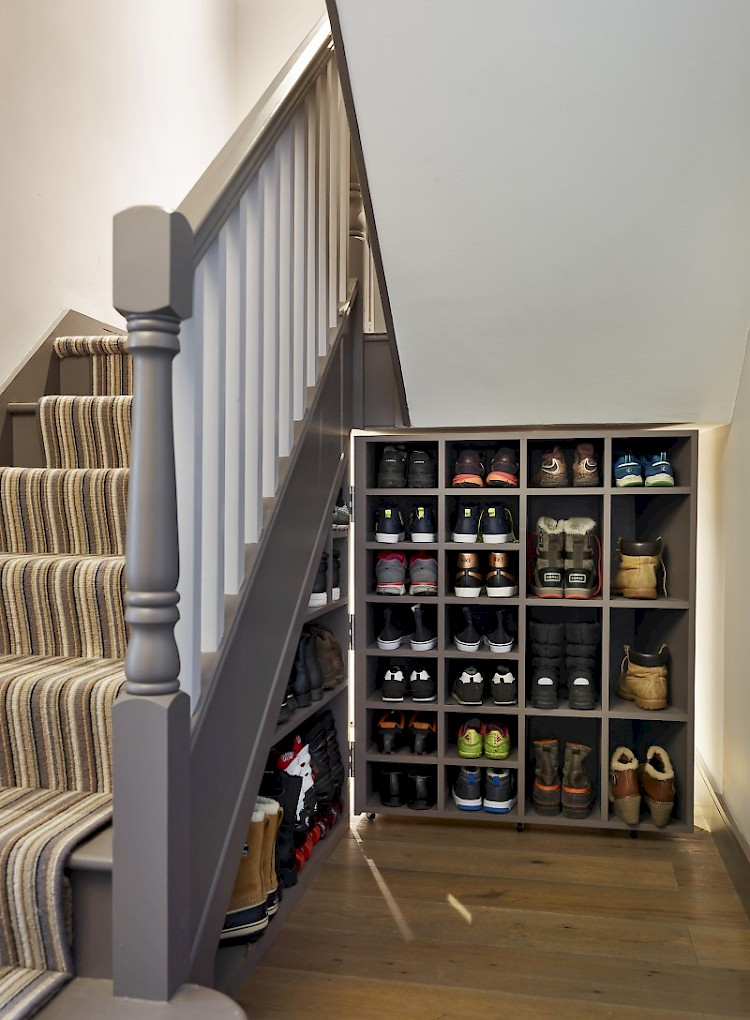 Bespoke Under Stairs Shelving: Hallway Ideas & Inspiration: Interior Design Top Tips