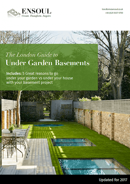 cover guide under garden basement