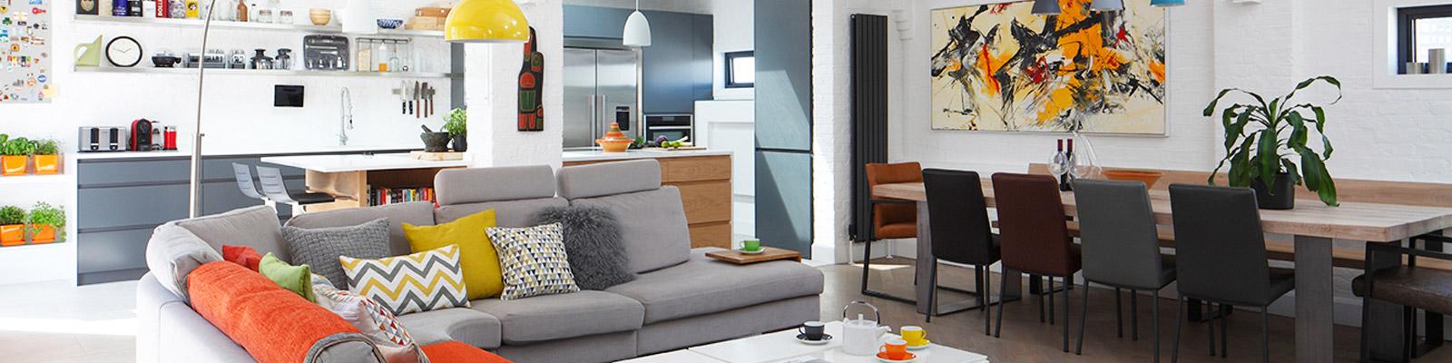 Ensoul Flat Apartment Steel Girders Open Plan Kitchen Diner Sitting Room