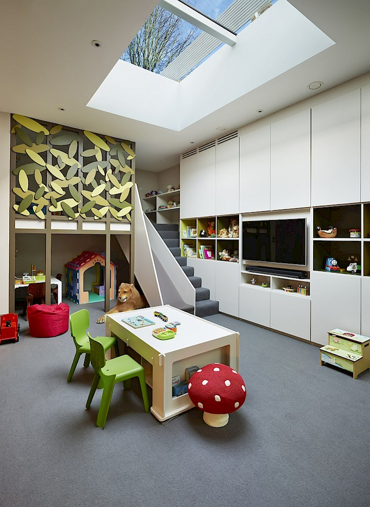 child playroom basement conversion