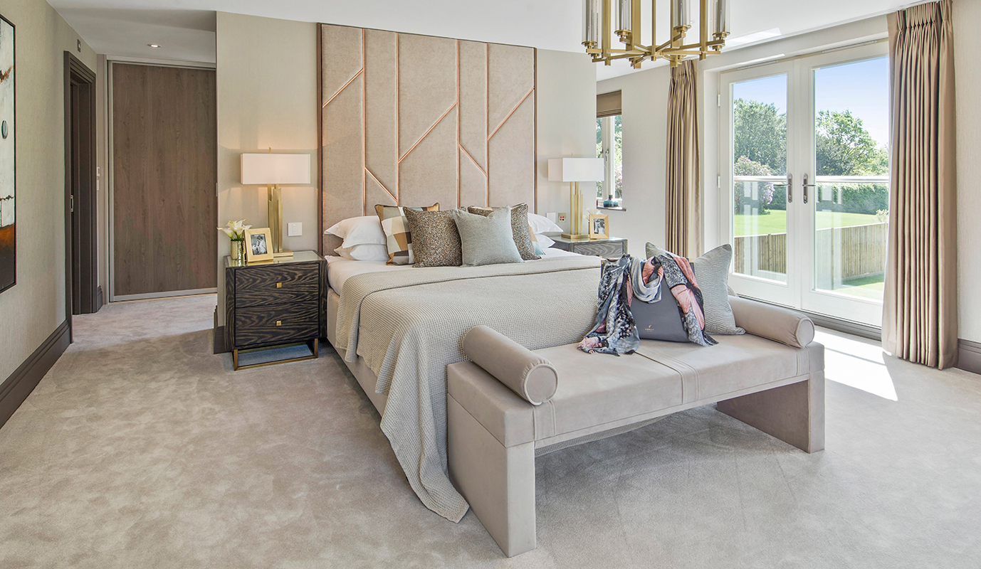 Ensoul New Build Master Bedroom Bespoke headboard walk in dressing room