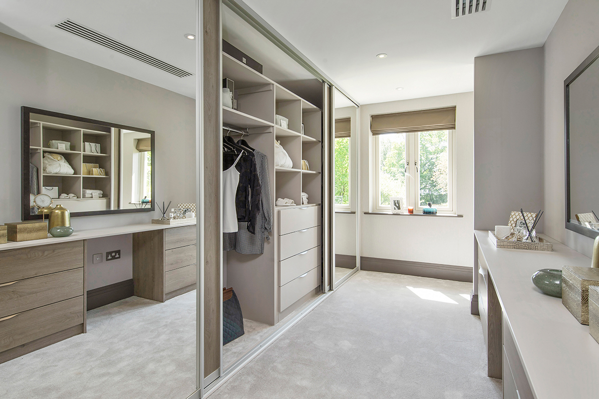 Ensoul New Build Walk in dressing room luxury wardrobes dressing table