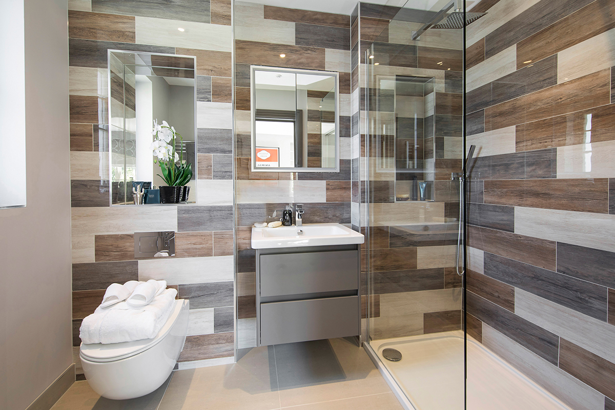 Ensoul New Build Ensuite Bathroom Luxury tiles wood effect tiles shower room