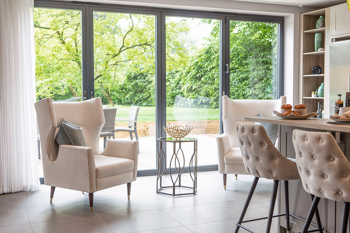 Ensoul New Build Luxury Kitchen Surrey Bifolds Inside outside Kitchen