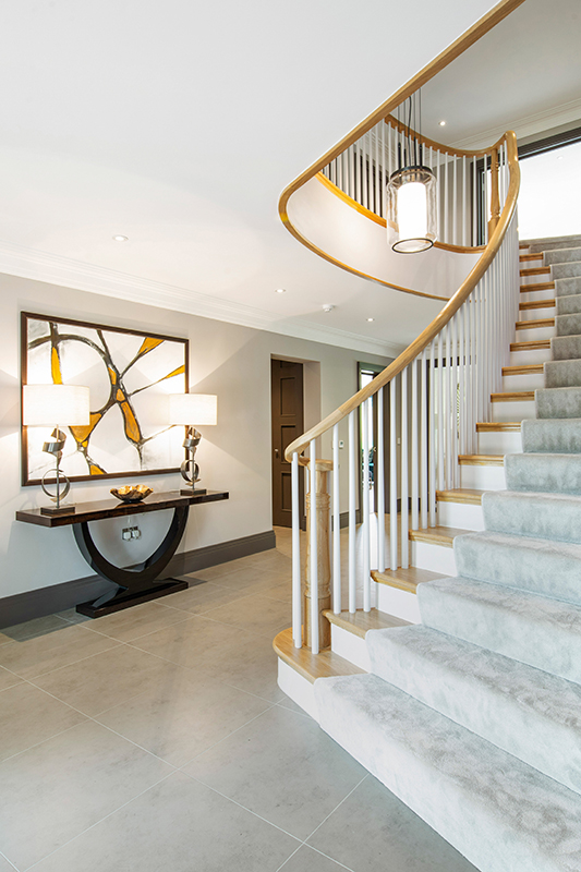 Ensoul New Build Sweeping Staircase Entrance Hall