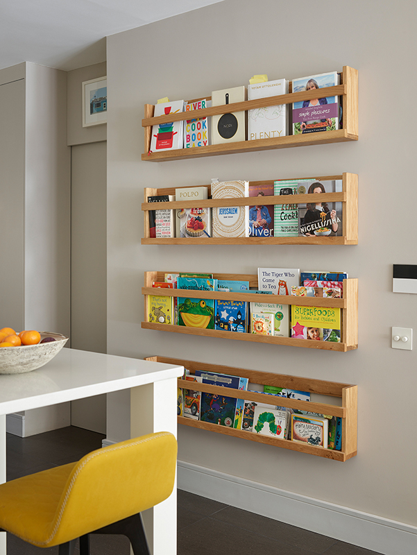 By Ensoul bespoke cabinet recipe book holder book shelf and bespoke storage
