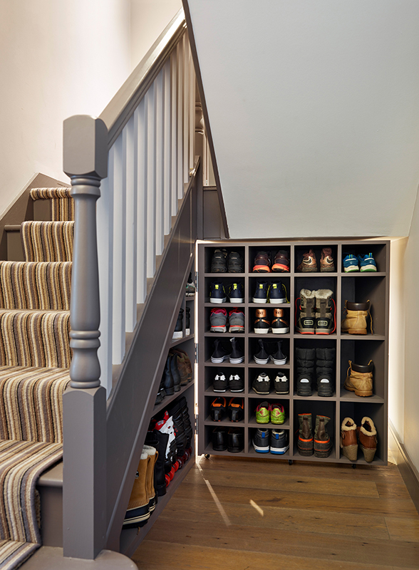 Bespoke Under Stairs Shelving: Bespoke Hallway Storage