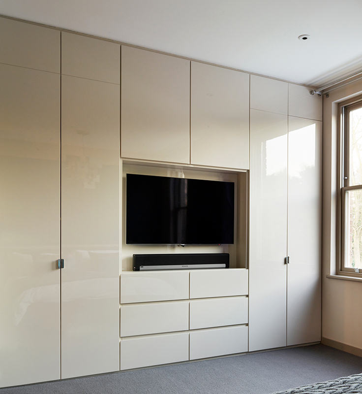 By Ensoul gloss lacquer bespoke wardrobes