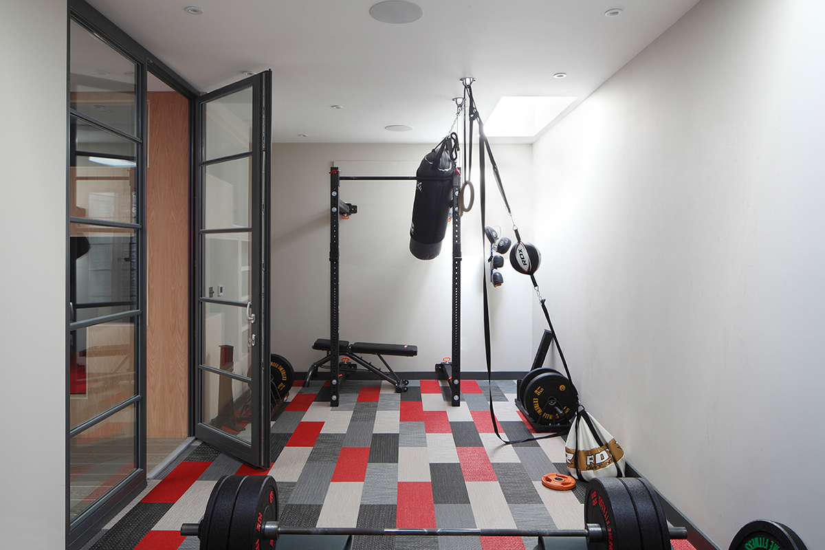 Ensoul basement under garden basement gym