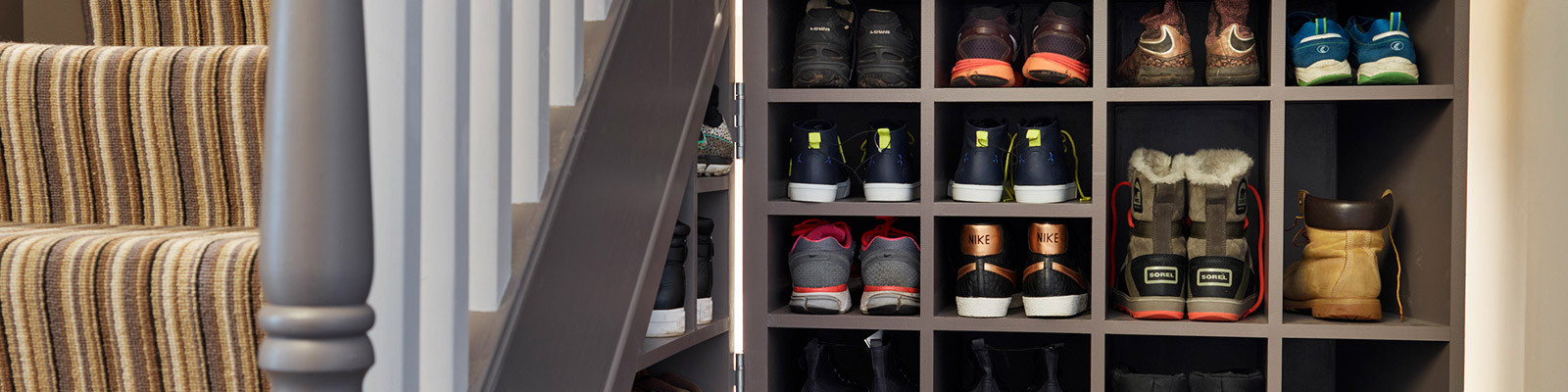 Under Stair bespoke furniture shoe storage