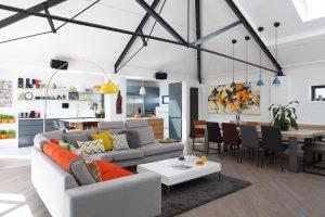 Ensoul luxury apartment open plan living and broken plan living kitchen diner sitting room